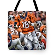 Peyton Manning Art 2 Tote Bag