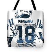 Peyton Manning Indianapolis Colts Pixel Art Tote Bag