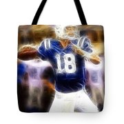 Peyton Manning Tote Bag by Paul Ward