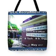 Pgcil Recruitment Tote Bag