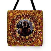 Pharaoh In The Starry Night Tote Bag