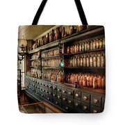 Pharmacy - So Many Drawers And Bottles Tote Bag