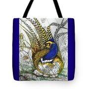 Pheasant Blue Tote Bag