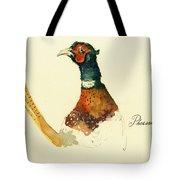 Pheasant Painting Tote Bag