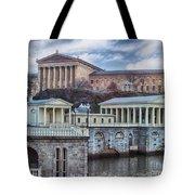 Philadelphia Art Museum At The Water Works  Tote Bag