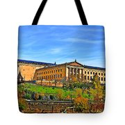 Philadelphia Art Museum From West River Drive. Tote Bag