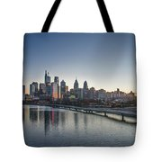Philadelphia At Dawn From The South Street Bridge Tote Bag
