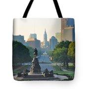 Philadelphia Benjamin Franklin Parkway Tote Bag by Bill Cannon