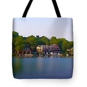 Philadelphia Boat House Row Tote Bag by Bill Cannon