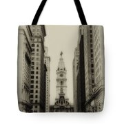 Philadelphia City Hall From South Broad Street Tote Bag