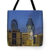 Philadelphia City Hall Skyline Tote Bag
