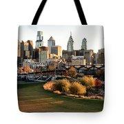Philadelphia Cityscape From Penn Park In University City Tote Bag