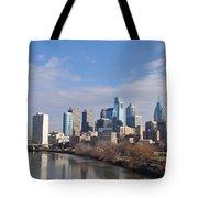 Philadelphia From The South Street Bridge Tote Bag