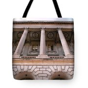 Philadelphia Library Pillars Tote Bag