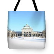 Philadelphia - Memorail Hall In Winter Tote Bag
