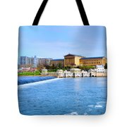 Philadelphia Museum Of Art And The Philadelphia Waterworks Tote Bag