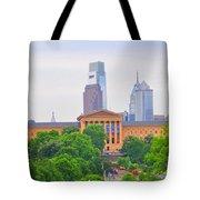 Philadelphia Museum Of Art From Lemon Hill Tote Bag