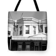 Philadelphia Row Houses - Black And White Tote Bag