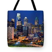 Philadelphia Skyline At Night Tote Bag