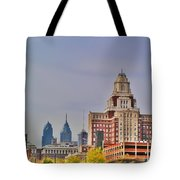 Philadelphia Skyline From Camden Waterfront Tote Bag