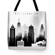 Philadelphia Skyline Graphic Work Tote Bag