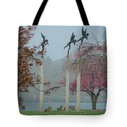 Philadelphia - Three Angels In Spring Tote Bag