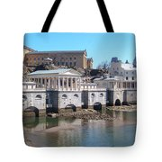 Philadelphia Waterworks And Art Museum Panorama Tote Bag