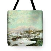 Philadelphia Winter Landscape Ca. 1830 - 1845 By Thomas Birch Tote Bag