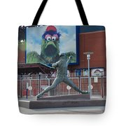 Phillies Steve Carlton Statue Tote Bag