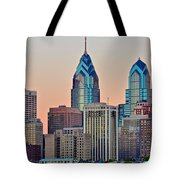 Philly At Sunset Tote Bag