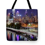 Philly In Panoramic View Tote Bag