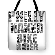 Philly Naked Bike Rider Tote Bag