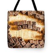 Philosophy Word Art Tote Bag