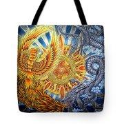 Phoenix And Dragon Tote Bag