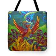 Phoenix Bird Tote Bag