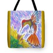 Phoenix Fire Hummingbird Tote Bag