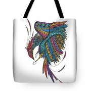 Phoenix Landing Tote Bag by Barbara McConoughey