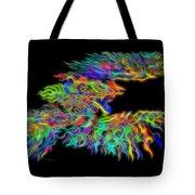 Phoenix Rising Electric Fractal Tote Bag