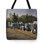 Phone Booth Graveyard Tote Bag