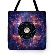 Photo Of The Moon And Sacred Geometry Tote Bag
