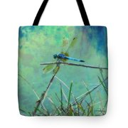 Photo Painted Dragonfly Tote Bag