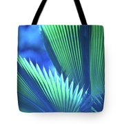Photograph Of A Royal Palm In Blue Tote Bag