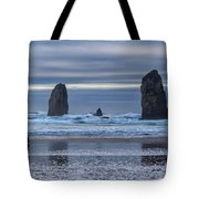 Photographer At Cannon Beach Tote Bag