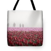 Photographers In The Mist Tote Bag