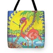 Pia The Flamboyant Flamingo Tote Bag
