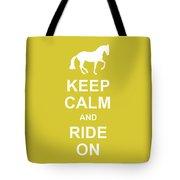 Piaffe And Keep Calm Tote Bag