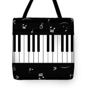 Piano And Music Background Tote Bag