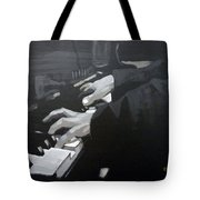 Piano Hands Tote Bag