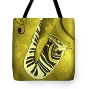 Piano Keys In A  Saxophone Golden - Music In Motion Tote Bag
