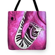 Piano Keys In A Saxophone Hot Pink - Music In Motion Tote Bag